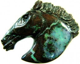 BOULDER HORSE CARVINGS-HIGHLY POLISHED 74 CTS [BMA1422]