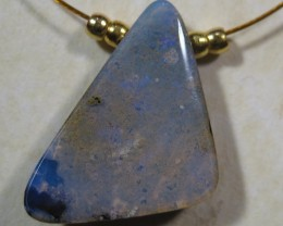YOWAHOPALS*4.90ct Simple Necklace --- Natural Boulder Opal-