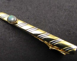 STYLISH MODERM  SOLID OPAL  TIE BAR  GOA 80