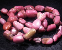 123.2 CTS PINK OPAL BEAD STRAND -TOP POLISH! [VS6772]