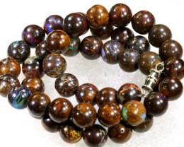 230 CTS BOULDER OPAL BEADS STRANDS TBO-4192