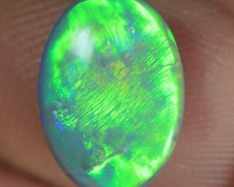 Bright Flash Lightning Ridge Semi Black Opal stone 1.07 ct