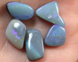 BLUE FLASH SHELL DOUBLET PARCEL OPALS 12.60 CTS FOA51