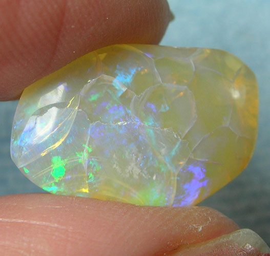 "NATURAL SOLID CRYSTAL""CRACKLE""OPAL NaturesArt 8.29ct [CONA90"