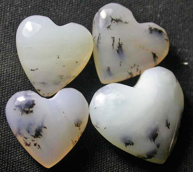 PERU HEART STONE WITH DENDRITIC INC PARCEL 19.40CTS [VS5146]